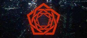 Le logo de carpenter brut en forme de pentacle