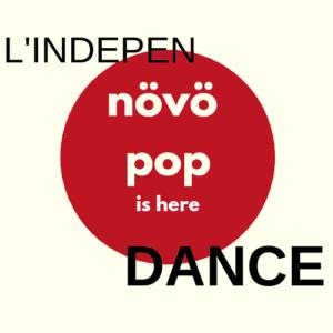 logo de l'indépendant texte noir et blanc sur fond rouge