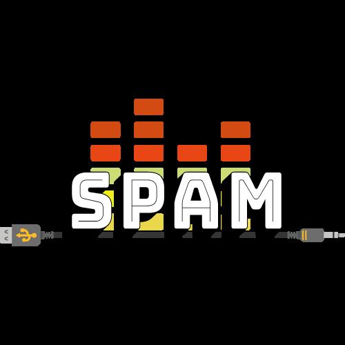 Logo de l'émission spam un câble USB traverse les lettres
